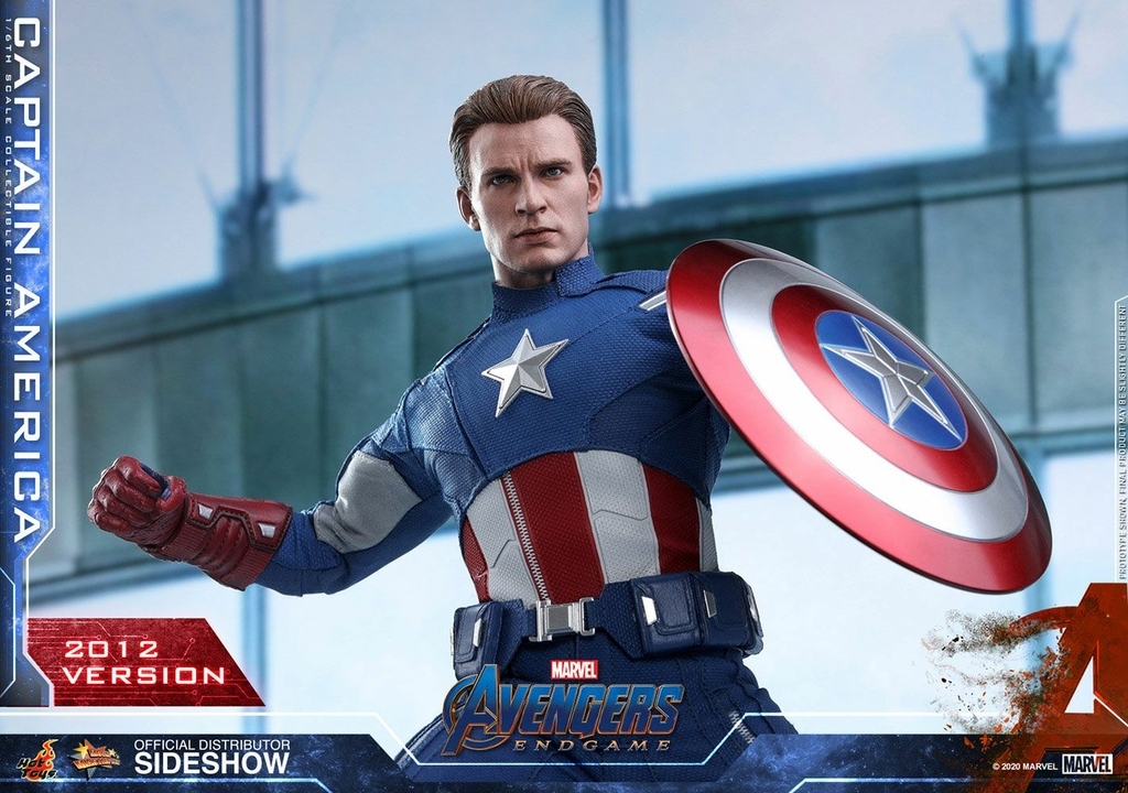 Figurine Avengers Endgame Movie Masterpiece Captain America 2012 Version 30cm 1001 Figurines (5)
