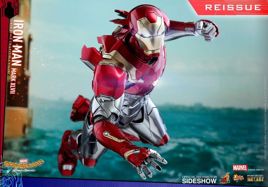 Figurine Spider-Man Homecoming Movie Masterpiece Diecast Iron Man Mark XLVII Reissue 32cm 1001 Figurines (5)
