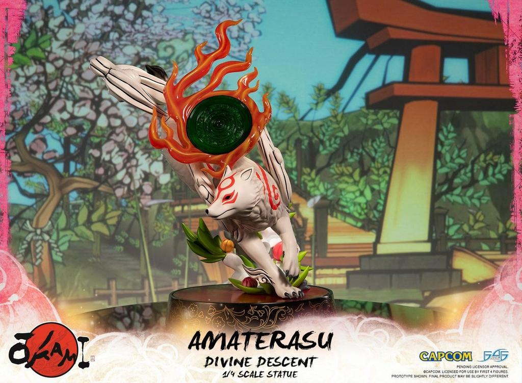 Statuette Okami Amaterasu Divine Descent 44cm 1001 Figurines (2)