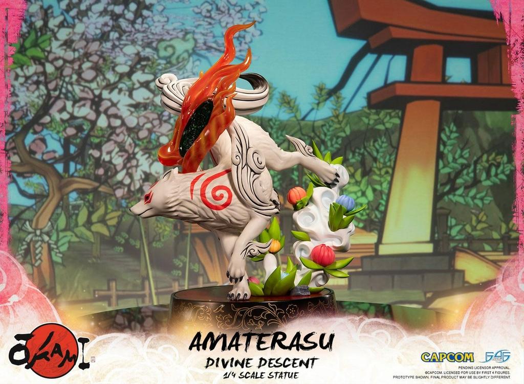 Statuette Okami Amaterasu Divine Descent 44cm 1001 Figurines (3)