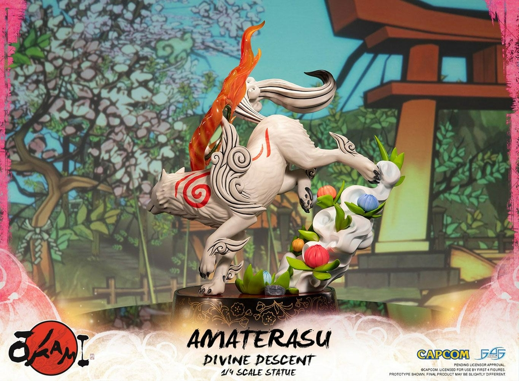 Statuette Okami Amaterasu Divine Descent 44cm 1001 Figurines (4)