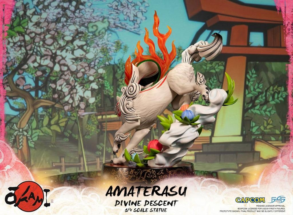 Statuette Okami Amaterasu Divine Descent 44cm 1001 Figurines (5)