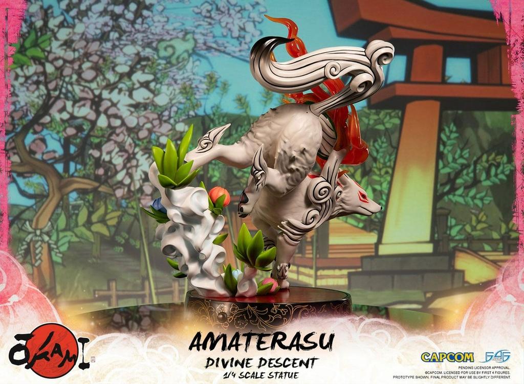 Statuette Okami Amaterasu Divine Descent 44cm 1001 Figurines (7)
