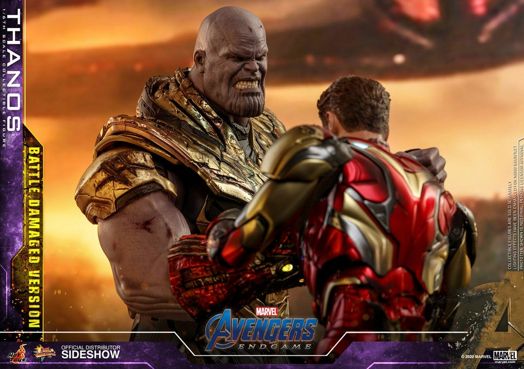 Figurine Avengers Endgame Movie Masterpiece Thanos Battle Damaged Version 42cm 1001 Figurines (8)