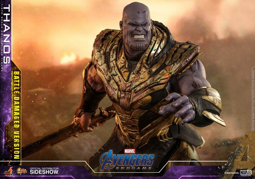 Figurine Avengers Endgame Movie Masterpiece Thanos Battle Damaged Version 42cm 1001 Figurines (9)