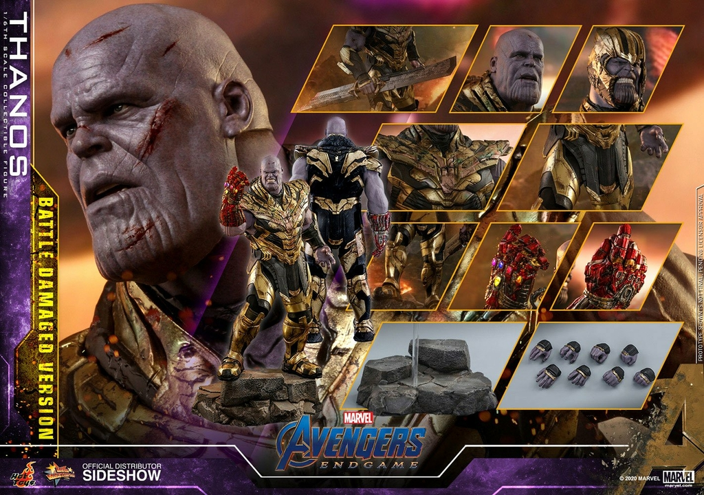 Figurine Avengers Endgame Movie Masterpiece Thanos Battle Damaged Version 42cm 1001 Figurines (15)