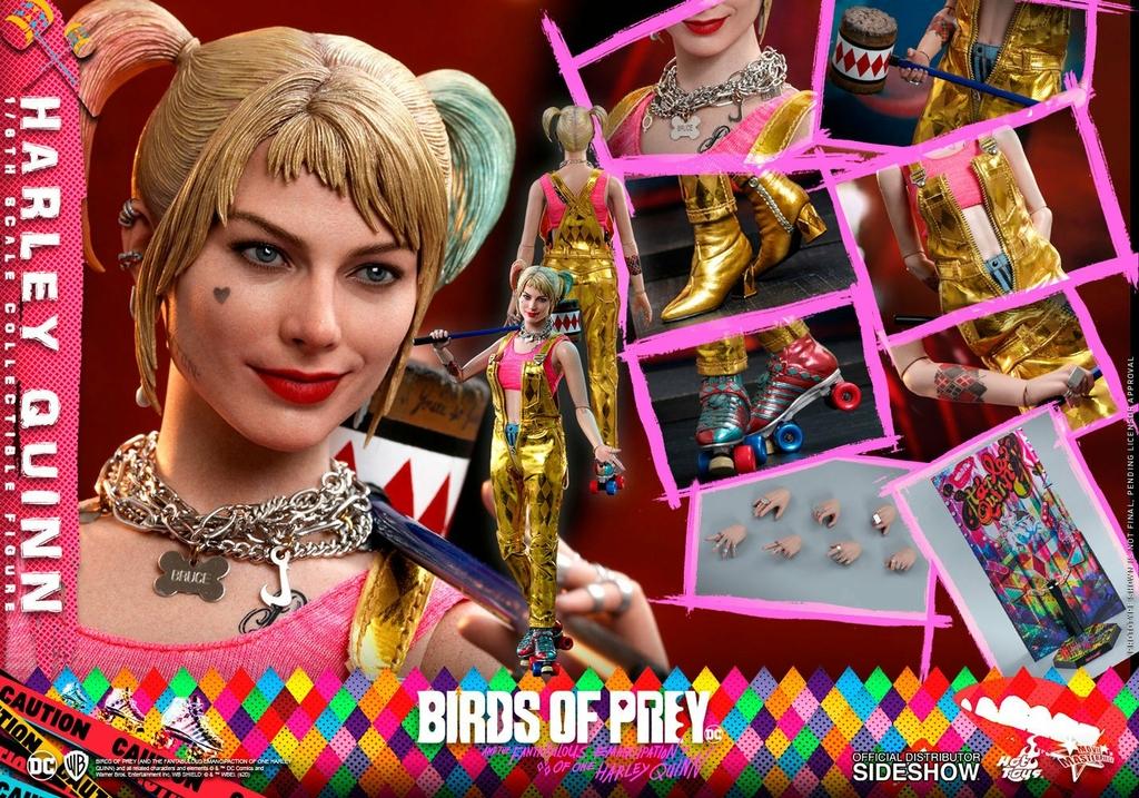 Figurine Birds of Prey Hot Toys Movie Masterpiece Harley Quinn 29cm 1001 Figurines (15)