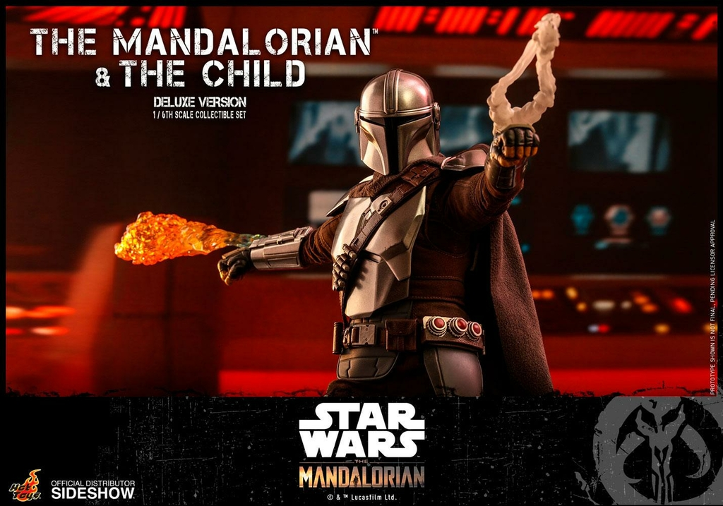 Pack 2 figurines Star Wars The Mandalorian - The Mandalorian & The Child Deluxe 30cm 1001 figurines (11)