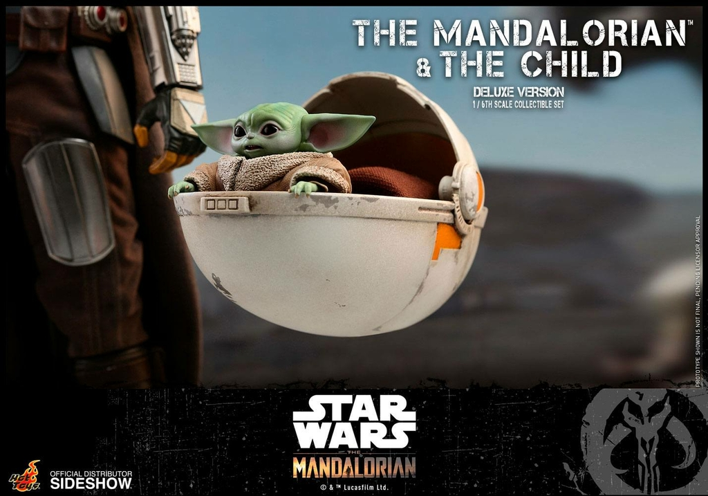 Pack 2 figurines Star Wars The Mandalorian - The Mandalorian & The Child Deluxe 30cm 1001 figurines (14)