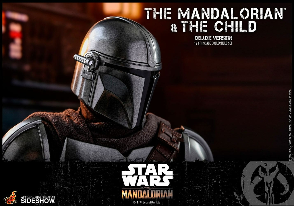 Pack 2 figurines Star Wars The Mandalorian - The Mandalorian & The Child Deluxe 30cm 1001 figurines (24)