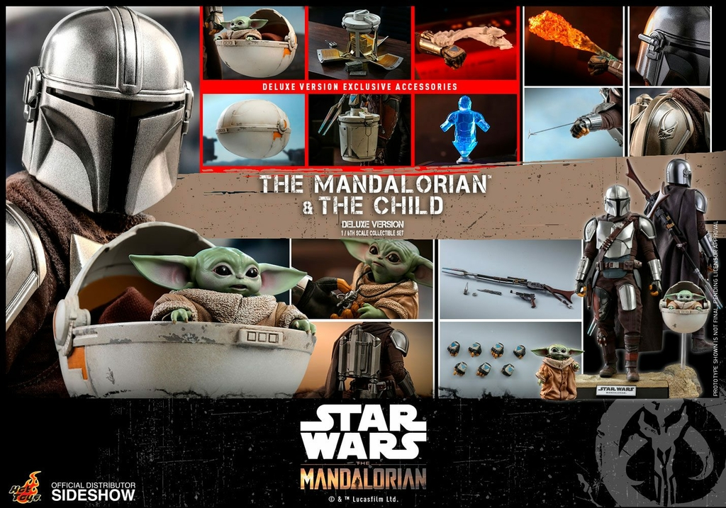 Pack 2 figurines Star Wars The Mandalorian - The Mandalorian & The Child Deluxe 30cm 1001 figurines (26)