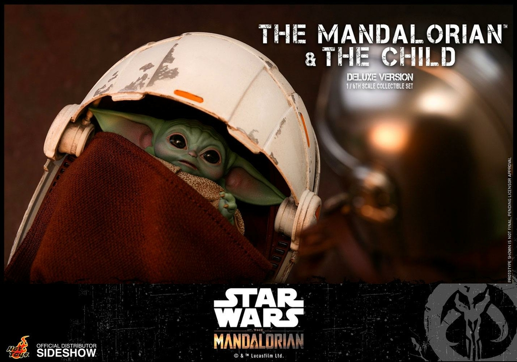 Pack 2 figurines Star Wars The Mandalorian - The Mandalorian & The Child Deluxe 30cm 1001 figurines (25)
