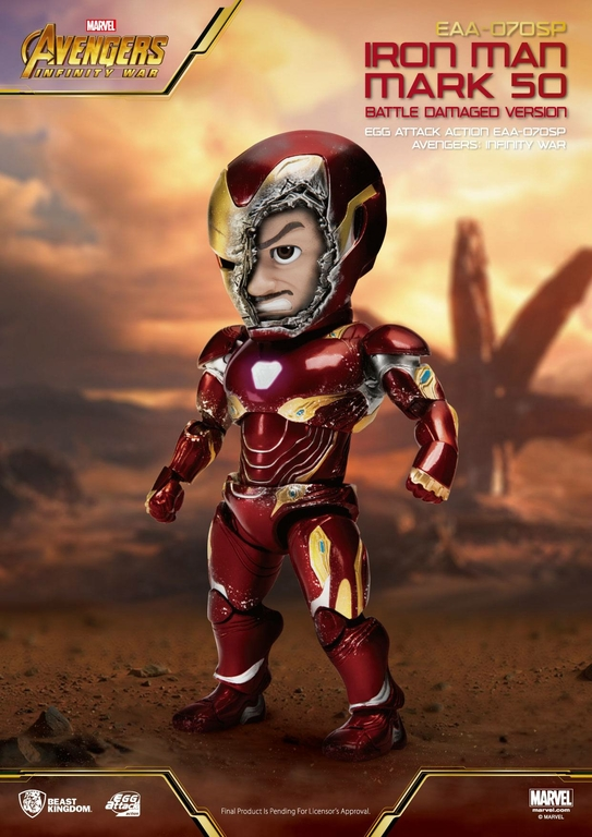 Figurine Avengers Infinity War Egg Attack Iron Man Mark 50 - 16cm 1001 Figurines (1)