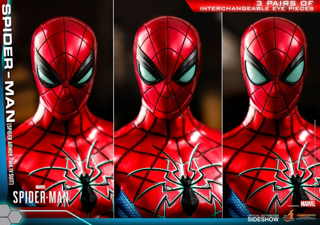 Figurine Marvels Spider-Man Video Game Masterpiece Spider-Man Spider Armor MK IV Suit 30cm 1001 Figurines (14)