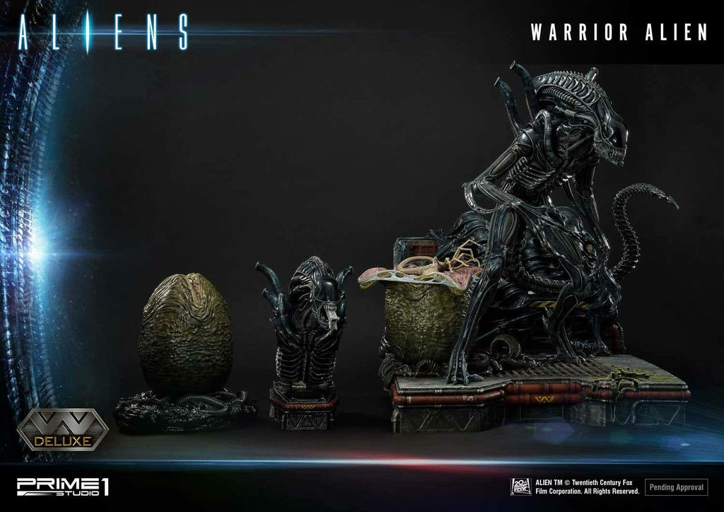 Statue Aliens Premium Masterline Series Warrior Alien Deluxe Bonus Version 67cm 1001 Figurines (6)