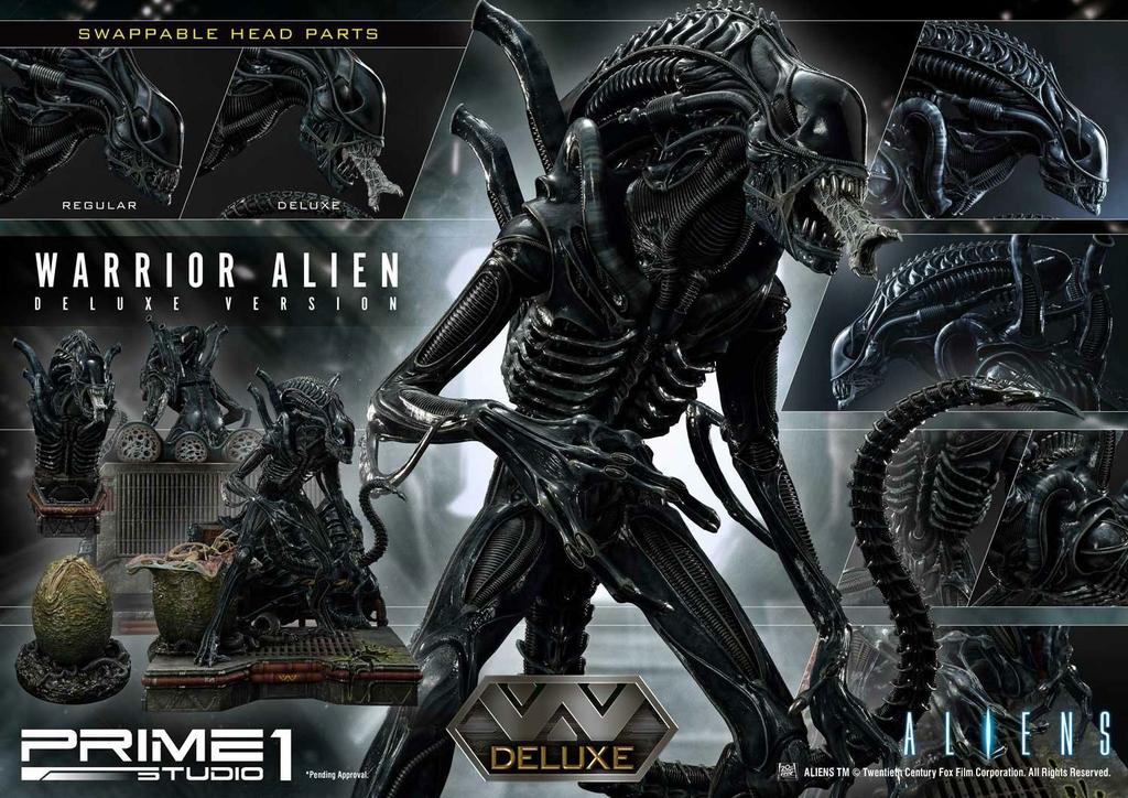 Statue Aliens Premium Masterline Series Warrior Alien Deluxe Bonus Version 67cm 1001 Figurines (12)