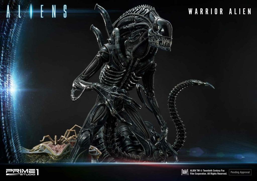 Statue Aliens Premium Masterline Series Warrior Alien Deluxe Bonus Version 67cm 1001 Figurines (17)