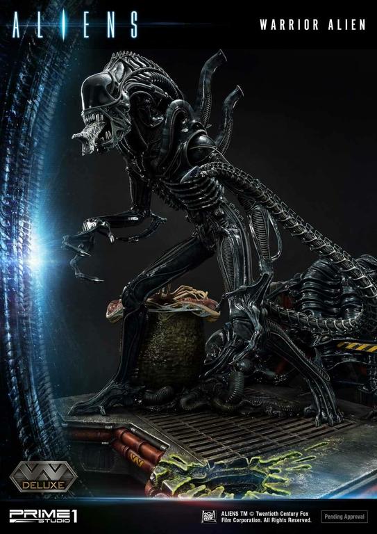 Statue Aliens Premium Masterline Series Warrior Alien Deluxe Bonus Version 67cm 1001 Figurines (19)