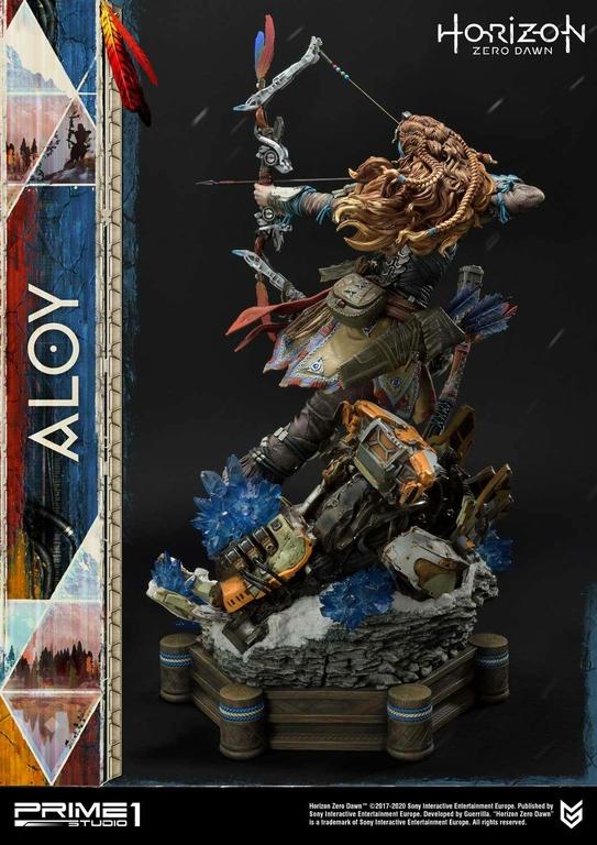 Statue Horizon Zero Dawn Aloy Shield Weaver Armor Set 70cm 1001 Figurines (5)