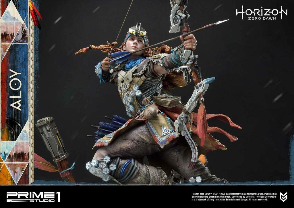 Statue Horizon Zero Dawn Aloy Shield Weaver Armor Set 70cm 1001 Figurines (8)