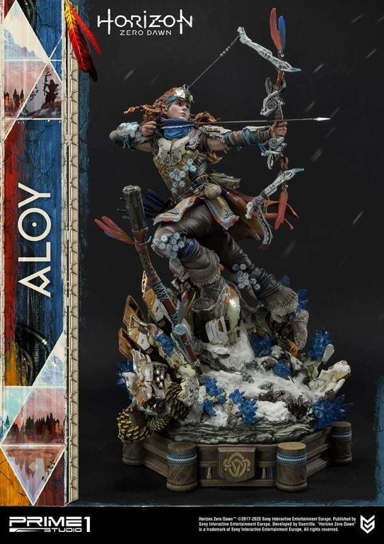 Statue Horizon Zero Dawn Aloy Shield Weaver Armor Set 70cm 1001 Figurines (9)
