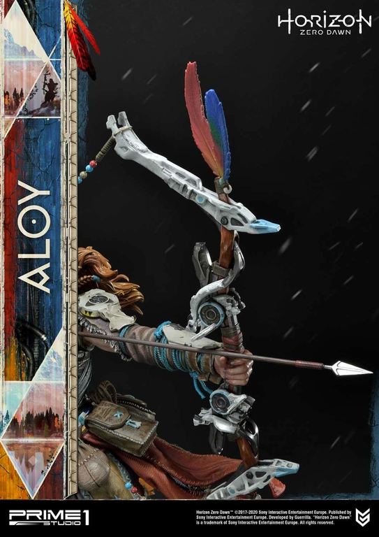 Statue Horizon Zero Dawn Aloy Shield Weaver Armor Set 70cm 1001 Figurines (14)