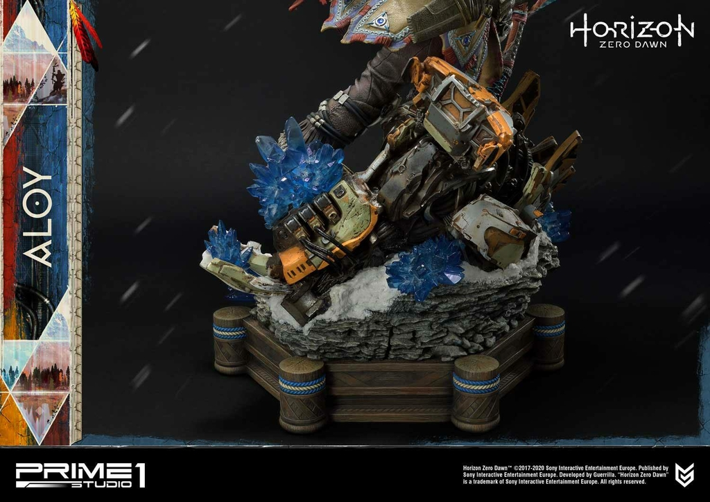 Statue Horizon Zero Dawn Aloy Shield Weaver Armor Set 70cm 1001 Figurines (19)