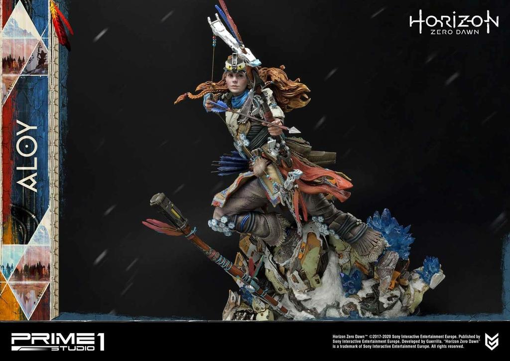 Statue Horizon Zero Dawn Aloy Shield Weaver Armor Set 70cm 1001 Figurines (25)