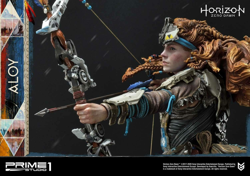 Statue Horizon Zero Dawn Aloy Shield Weaver Armor Set 70cm 1001 Figurines (24)