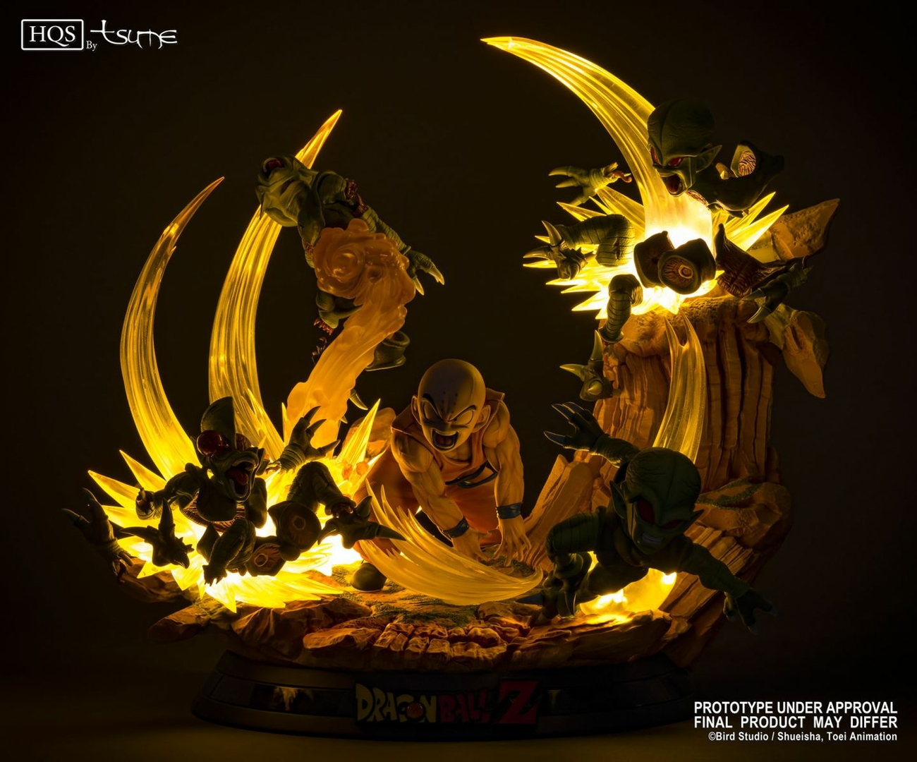 Statue DBZ Krillin Chap 0 Des guerriers terrifiés HQS by TSUME 1001 Figurines 4
