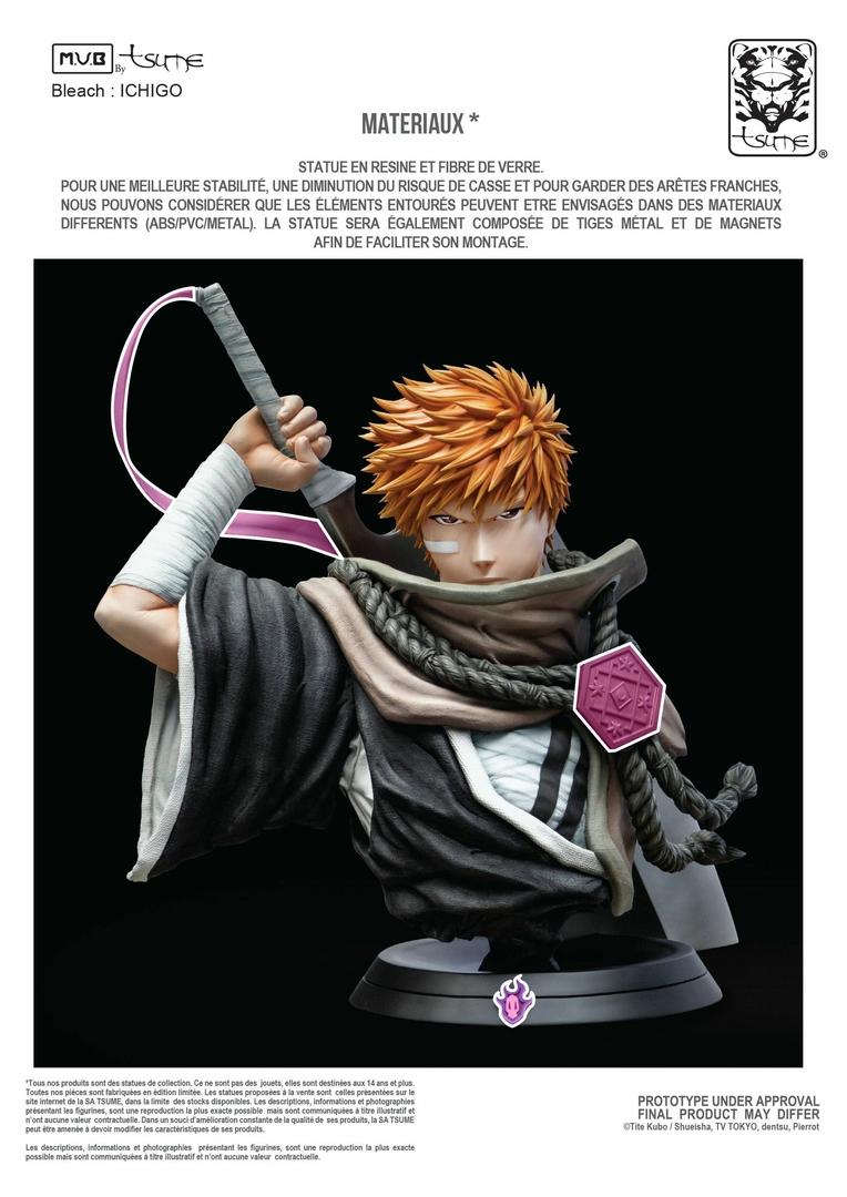 Buste Bleach Ichigo Kurosaki My Ultimate Bust Tsume 80cm 1001 Figurines 5