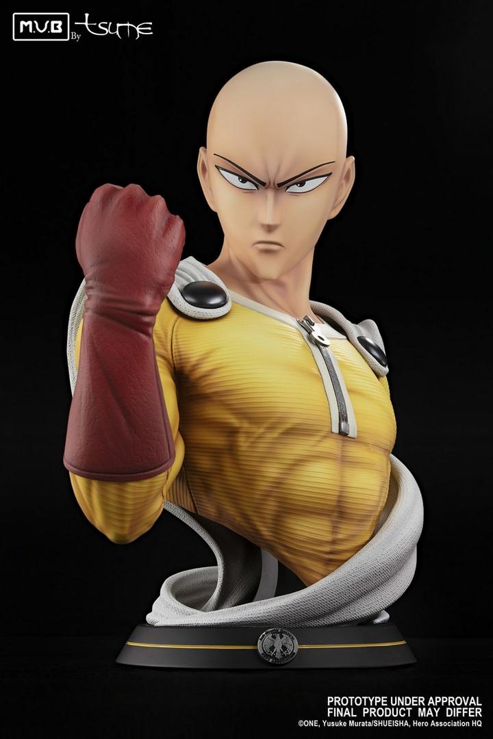 Buste One Punch Man Saitama MUB Tsume 70cm 1001 figurines 1