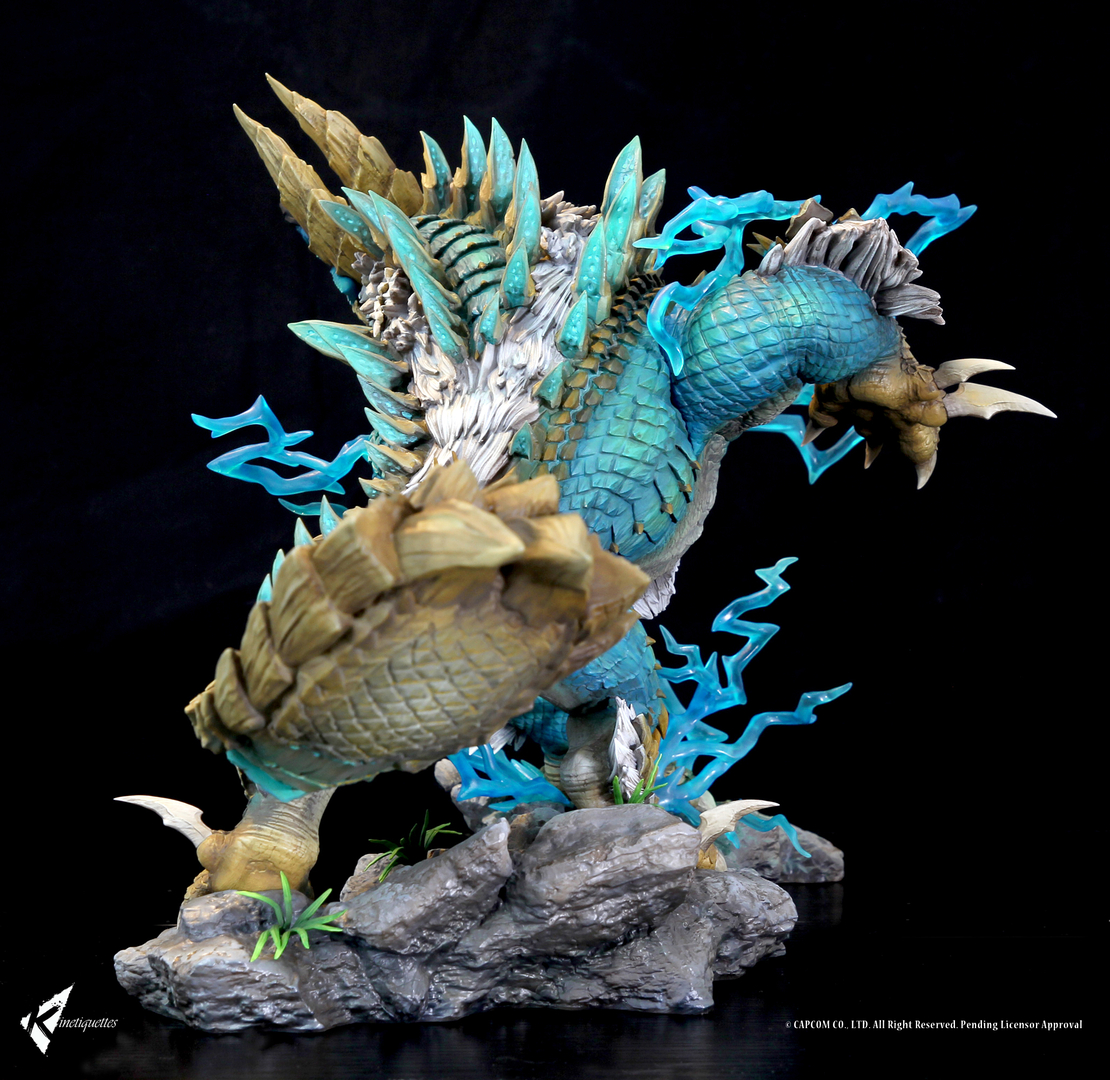 Diorama Monster Hunter The Thunder Wolf Wyvern 56cm 1001 Figurines (3)