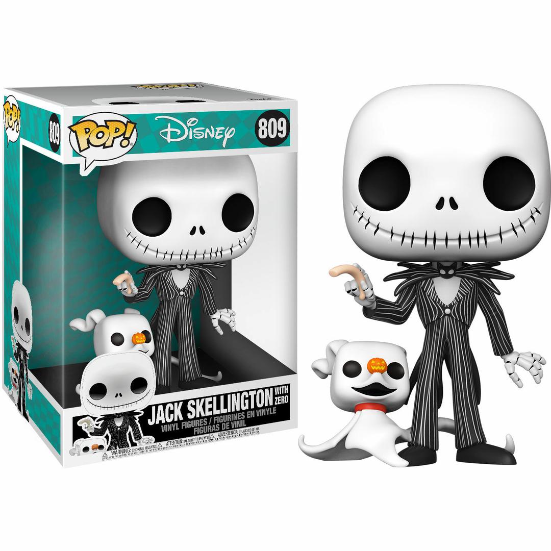 Figurine L´étrange Noël de Mr. Jack Funko POP! Disney Super Sized Jack with Zero 25cm 1001 Figurines