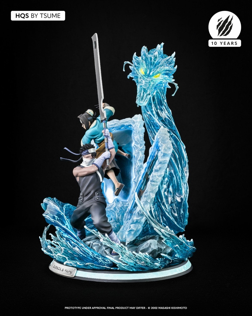 Statue Naruto Zabuza & Haku Tsume HQS 47cm 1001 Figurines 12