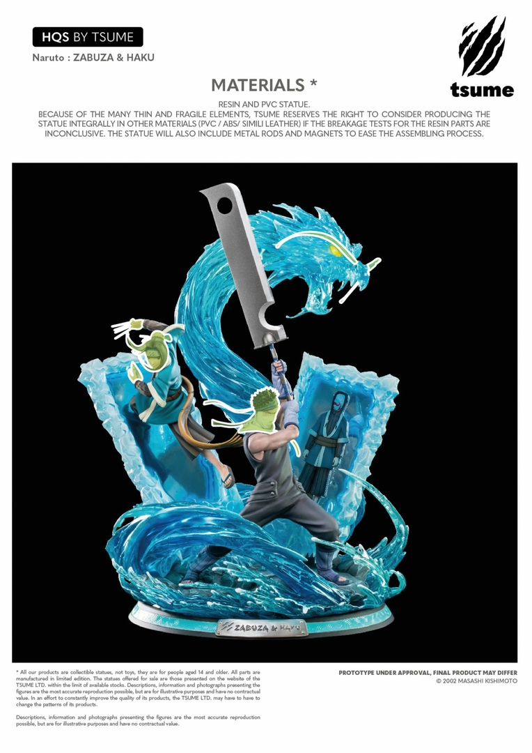 Statue Naruto Zabuza & Haku Tsume HQS 47cm 1001 Figurines 16