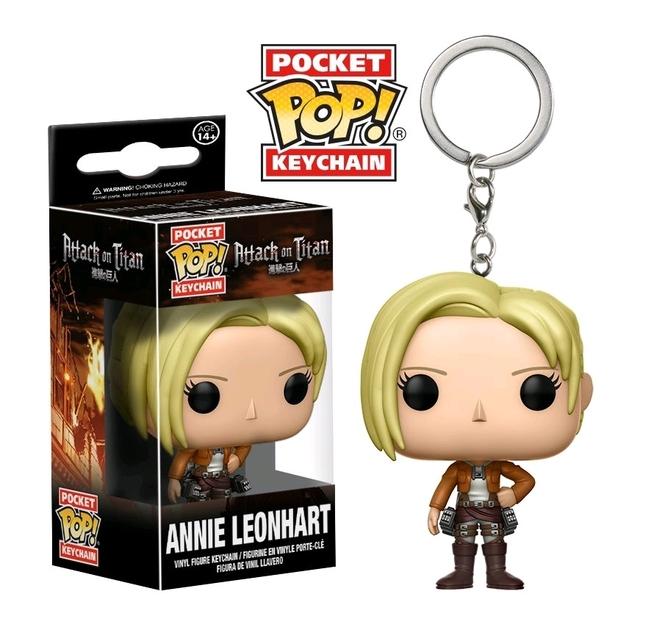 Porte-clés Attack on Titan Pocket POP! Annie Leonhart 4cm 1001 Figurines