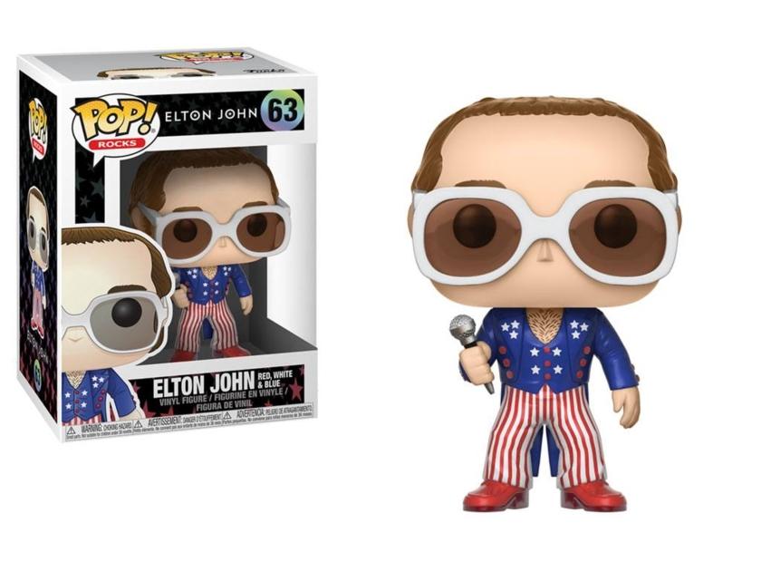 Figurine Elton John Funko Pop Rocks Elton John Red White