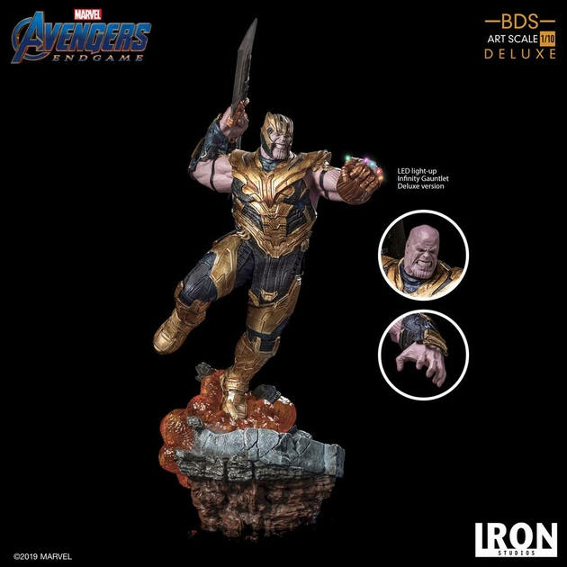 Statuette Avengers Endgame BDS Art Scale Thanos Deluxe Version 36cm 1001 Figurines