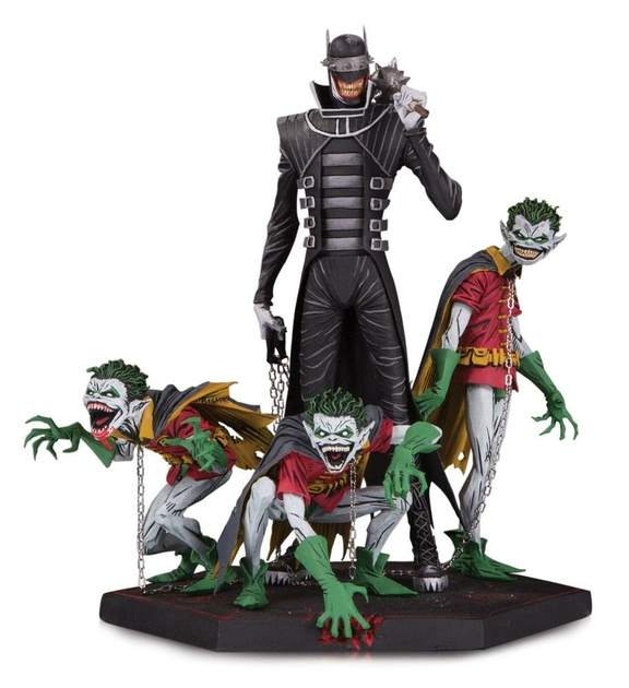 Statuette Dark Nights Metal Deluxe Batman Who Laughs & Robin Minions 21cm 1001 figurines