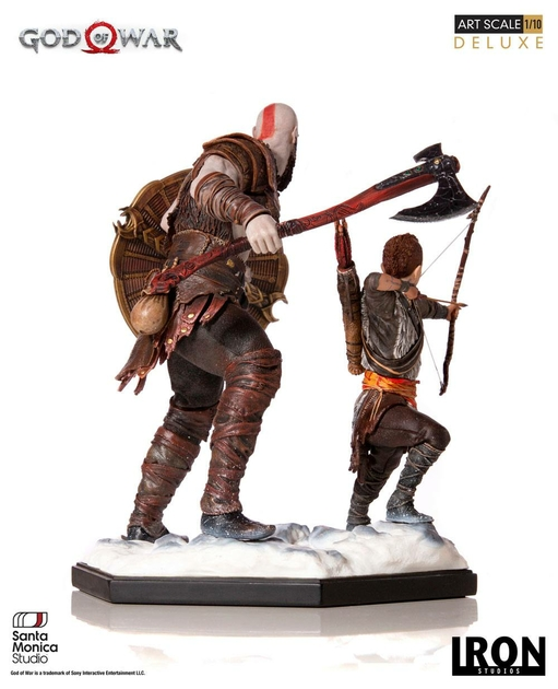 Statuette God of War Deluxe Art Scale Kratos & Atreus 20cm 1001 figurines (4)