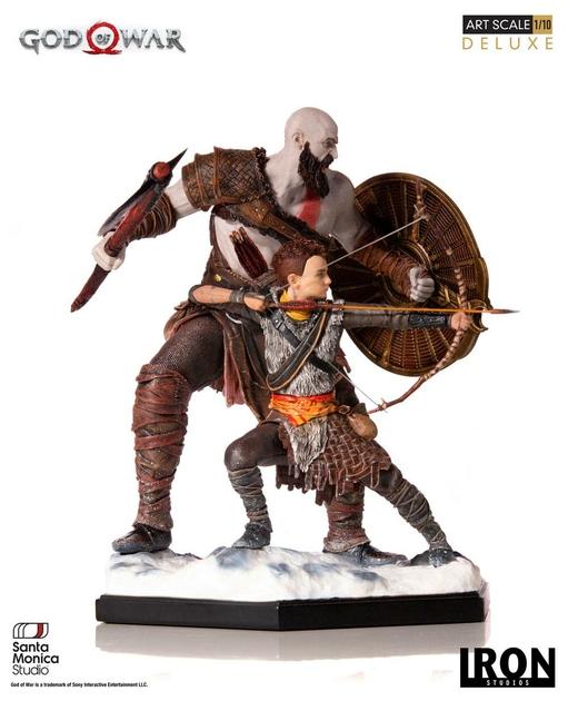 Statuette God of War Deluxe Art Scale Kratos & Atreus 20cm 1001 figurines (3)