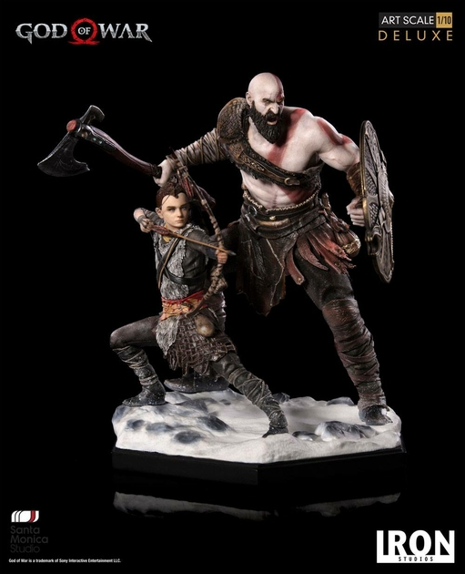 Statuette God of War Deluxe Art Scale Kratos & Atreus 20cm 1001 figurines (5)