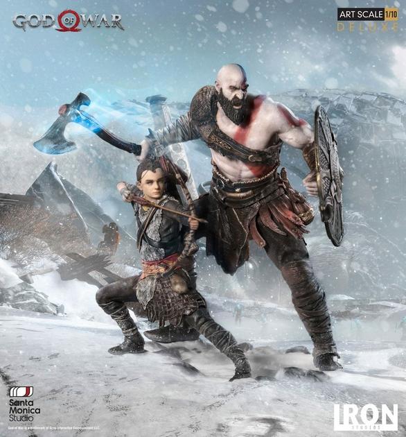 Statuette God of War Deluxe Art Scale Kratos & Atreus 20cm 1001 figurines (6)