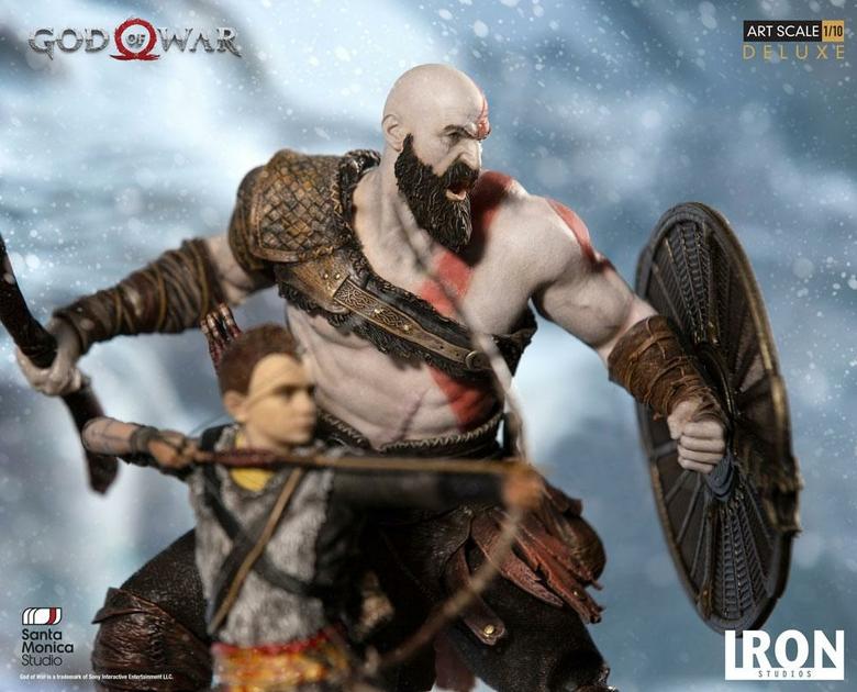 Statuette God of War Deluxe Art Scale Kratos & Atreus 20cm 1001 figurines (7)