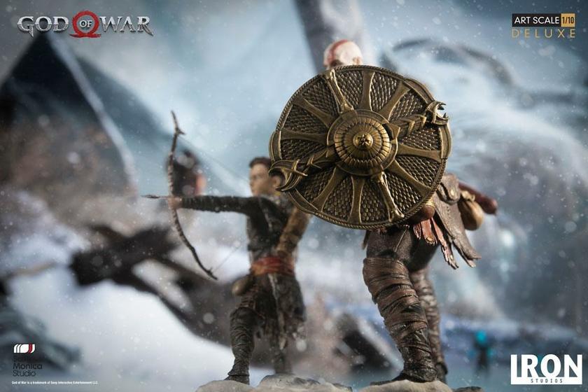 Statuette God of War Deluxe Art Scale Kratos & Atreus 20cm 1001 figurines (11)