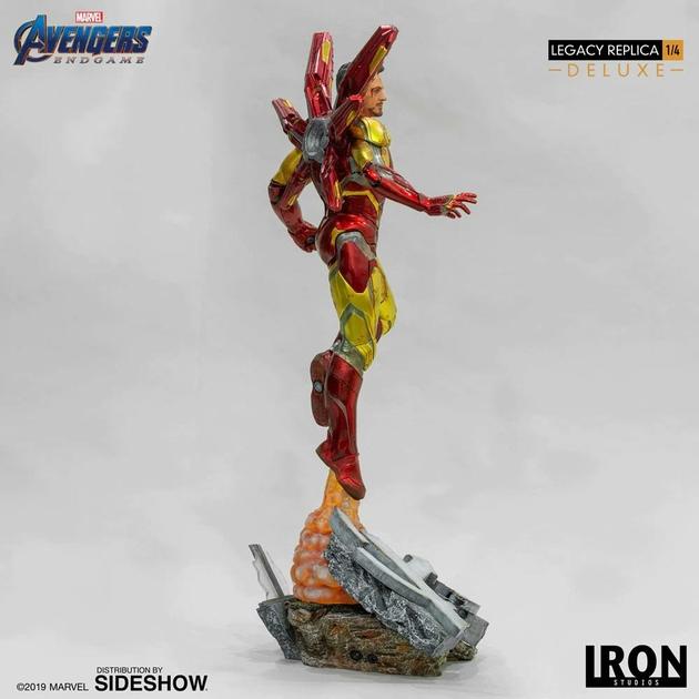 Statue Avengers Endgame Legacy Replica Iron Man Mark LXXXV Deluxe Version 84cm 1001 Figurines (4)
