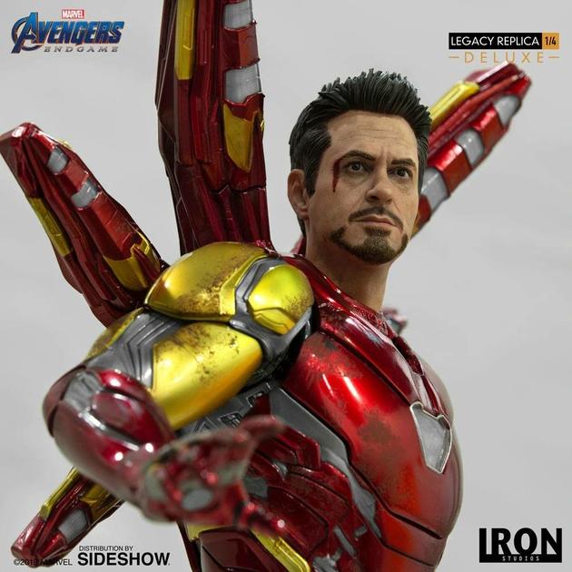 Statue Avengers Endgame Legacy Replica Iron Man Mark LXXXV Deluxe Version 84cm 1001 Figurines (10)