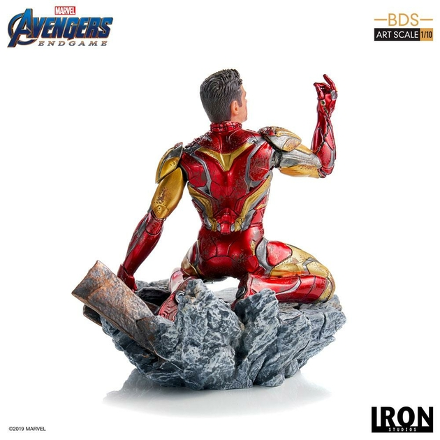Statuette Avengers Endgame BDS Art Scale I am Iron Man 15cm 1001 figurines (4)