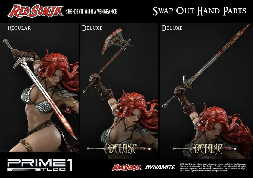 Statue Red Sonja She-Devil with a Vengeance Deluxe Version 79 cm 1001 Figurines (13)